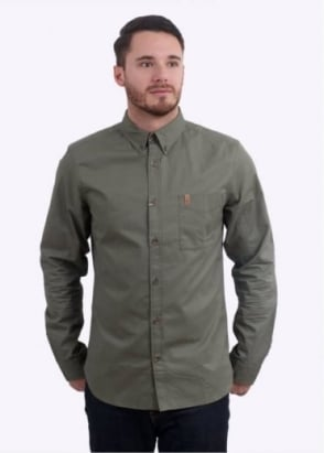Fjallraven Ovik Solid Twill Shirt - Green