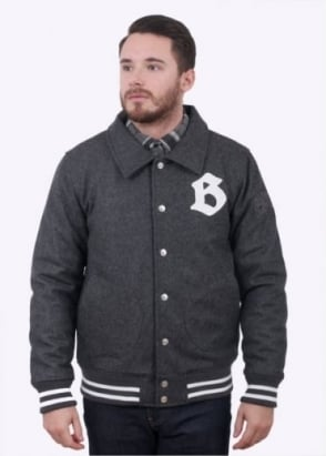 Billionaire Boys Club Car Club Wool Jacket - Dark Grey