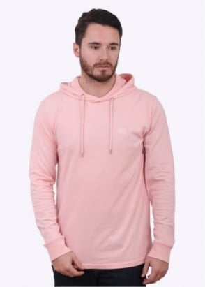 Obey Metier LS Hooded Tee - Pink