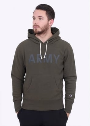 Champion Hooded Army Sweater - Olive