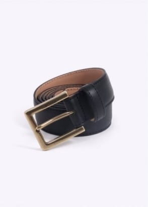 Barbour Country Leather Belt - Black