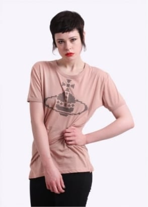 Vivienne Westwood Anglomania Embroided Orb Tee - Flesh