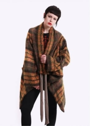 Vivienne Westwood Anglomania Blanket Cape - Yellow