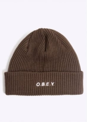 Obey Contorted Beanie - Army