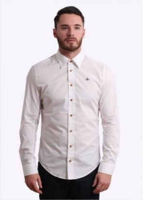 Vivienne Westwood Mens Stretch Shirt - White