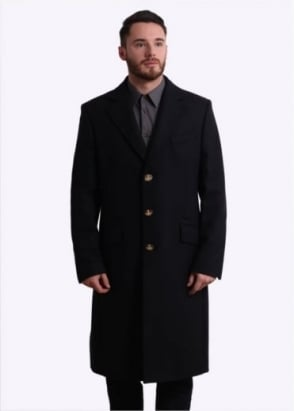 Vivienne Westwood Mens Castle Coat - Navy