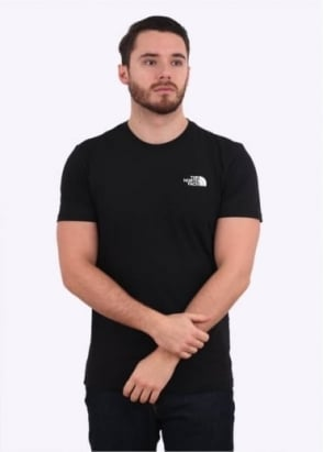 The North Face SS Red Box Tee - Black