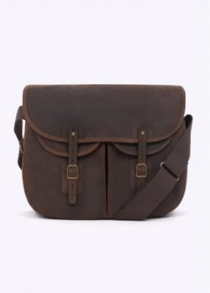 Barbour Laird Leather Bag - Olive