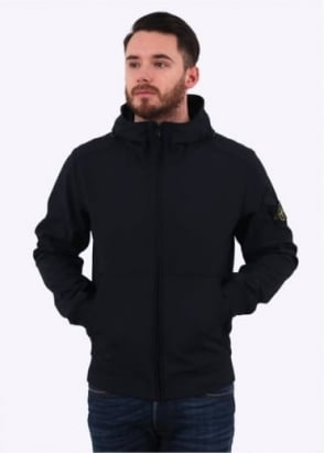 Stone Island Light Soft Shell Jacket - Navy Blue