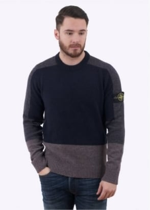 Stone Island Knit Jumper - Navy / Charcoal