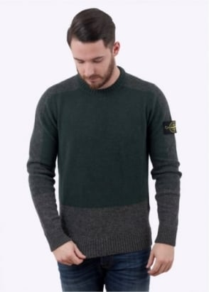Stone Island Knit Jumper - Green / Charcoal