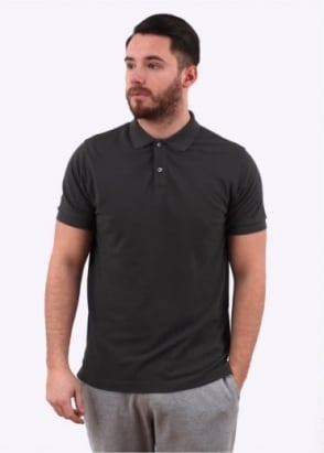 Sunspel Short Sleeve Pique Polo - Petrol