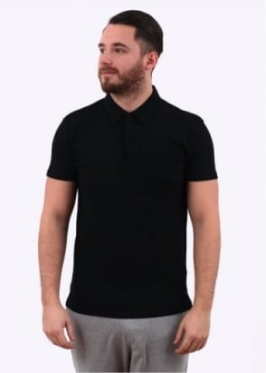 Sunspel Short Sleeve Riviera Polo - Black
