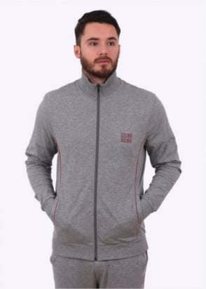 Hugo Boss Zip Jacket - Medium Grey
