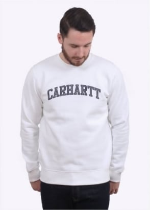 Carhartt Yale Sweat - White / Navy