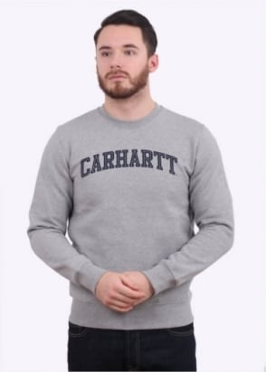 Carhartt Yale Sweat - Grey / Navy