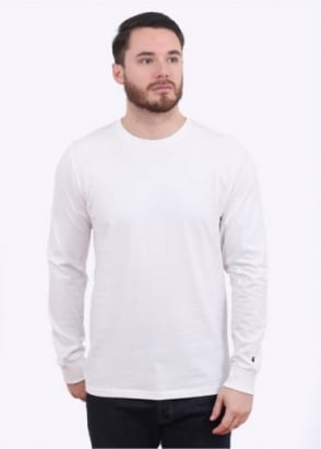 Carhartt L/S Base T-Shirt - White / Black