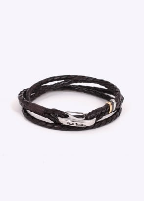 Paul Smith Leather Bracelet - Brown