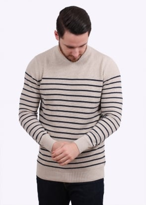 Barbour Current Stripe Crew - Neutral Base
