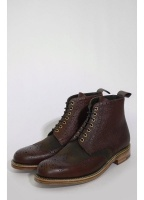 Grenson x Barbour Acklam Brogue Boot Brown