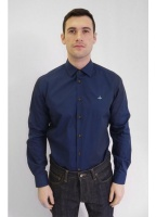Vivienne Westwood Mens Formal Orb Shirt Navy