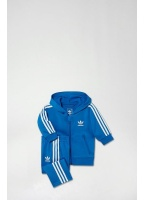 Adidas Originals Kids Childs Flocked Track Suit Blue