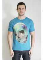 Paul Smith Red Ear Balloon Skull Tee Turquoise