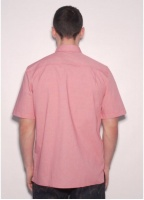 Fred Perry Laurel Wreath Puppy Tooth Shirt Blood