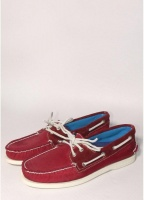 Sperry Topsider Deck Shoes Nylon Red