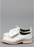 Trickers for Triads Bourton Derby Tassel Brogue White