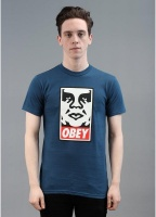 Obey Icon Logo Tee Patrol Blue