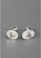Vivienne Westwood Jewellery Mens Gemstone Mother Of Pearl Orb Cufflinks