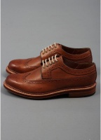 Grenson Sid Longwing Brogue Shoes - Tan
