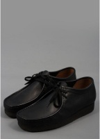 Clarks Originals Wallabee Leather Shoes Black