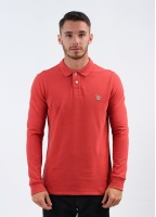 Paul Smith Jeans Zebra Long Sleeve Polo Shirt - Red