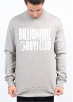 Billionaire Boys Club Straight Logo Crew Neck Sweatshirt - Grey