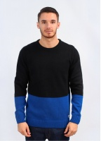 Penfield Elmdale Knit Colour Block Sweater - Black / Blue