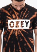 Obey Dive Bar Spiral T-Shirt - Bleached / Black
