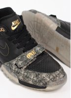 Nike Footwear Quickstrike Air Trainer 1 Mid PRM QS 'Paid In Full' Trainers - Black / Metallic Gold / Vapour Green