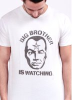Obey Big Brother Watching Tee - Light Grey