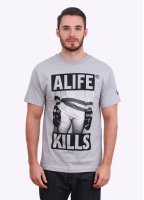 Alife Kill by Harry McNally Tee - Grey