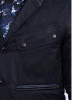 Barbour x White Mountaineering Waxed Lapel Jacket - Indigo