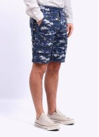 Barbour x White Mountaineering Wave Shorts - Blue Wave Print