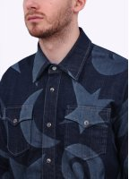 Vivienne Westwood Mens Anglomania Chore Denim Over Shirt - Blue