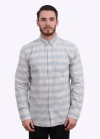 Obey Dover Woven Stripe Shirt - Blue