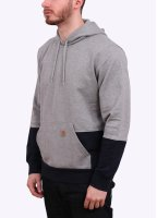 Carhartt Hooded Stanley Sweatshirt - Grey / Duke Blue