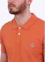 Paul Smith Short Sleeve Zebra Polo Shirt - Orange
