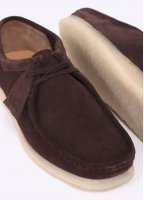 Clarks Originals Suede Wallabee Shoes - Dark Brown