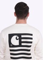 Carhartt State Flag Sweatshirt - Snow / Black