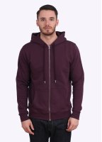 Sunspel Zip Front Hoody - Reed